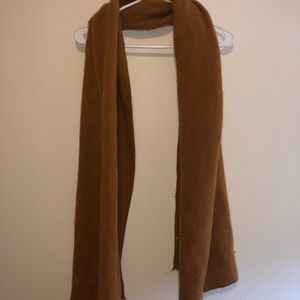 Mustard colored faux wool scarf
